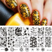 1 Pc Tulip Flower Pattern Nail Art Stamp Template Rose ...