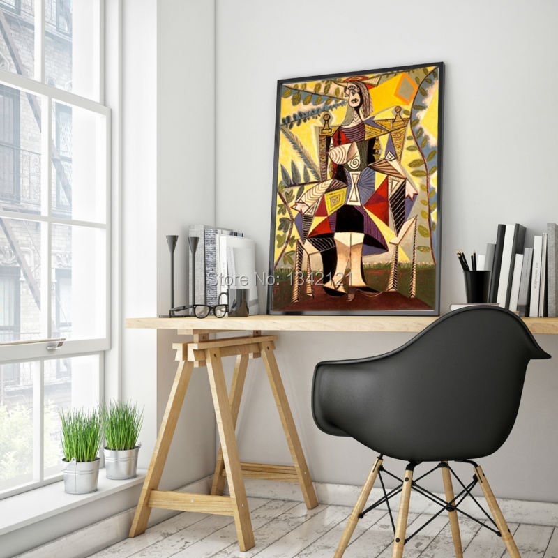 ᗑ】Frameless Picasso abstract figure girl portraits oil painting ...