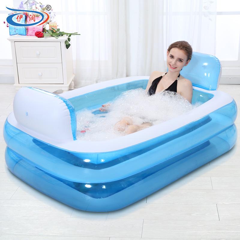 Inflatable Bathtub Folding Tub Thickening Adult Bathtub