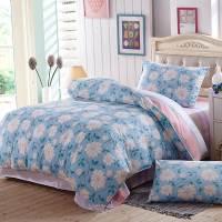 Magnolia Bedding Set Sky Blue Elegant Duvet Cover Pink for ...