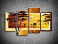 african canvas wall art free shipping 100 hand painted oil ...