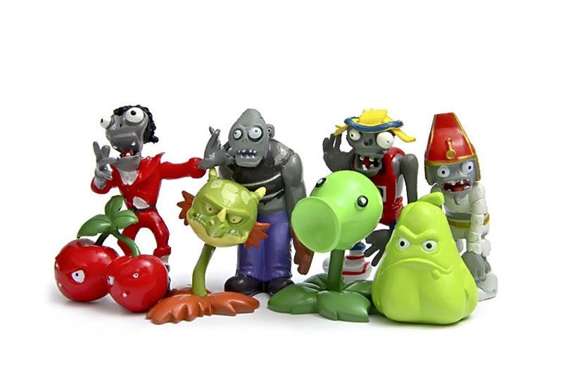 7770b20533 30pcs set DIY PVC Plant VS Zombie 1 Anime Figure Toys 3-8cm PVZ ...