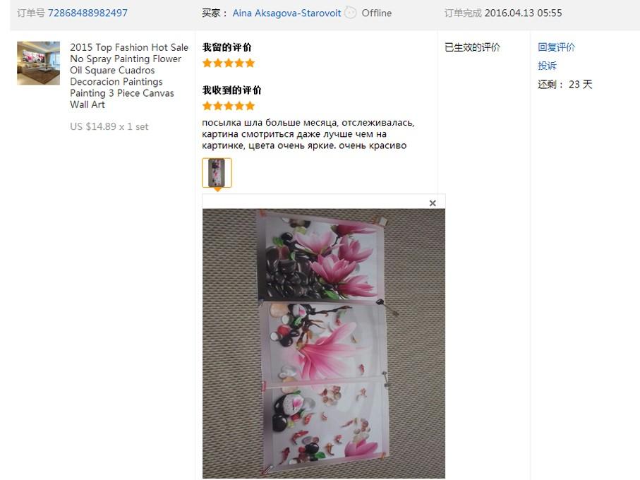 ᗑ】Nórdico hermosa cereza Árboles aceite pintura cuadro lienzo ...