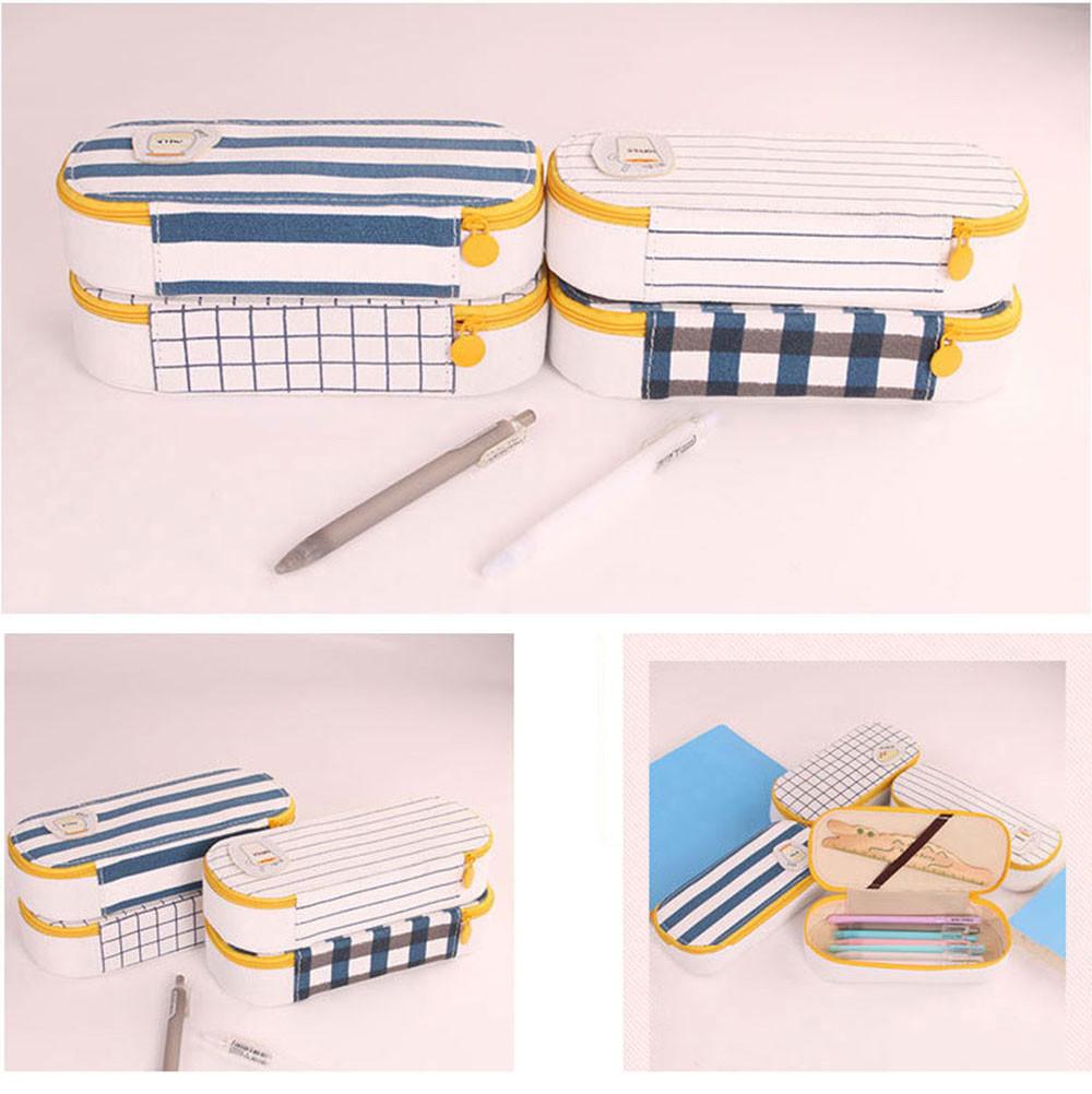⊱1x coreano cancelleria tela sacchetto della matita creativa penna ... 284c756a3c0