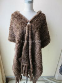 wholesale/retail/Wonderful real mink knitted fur shawls ...