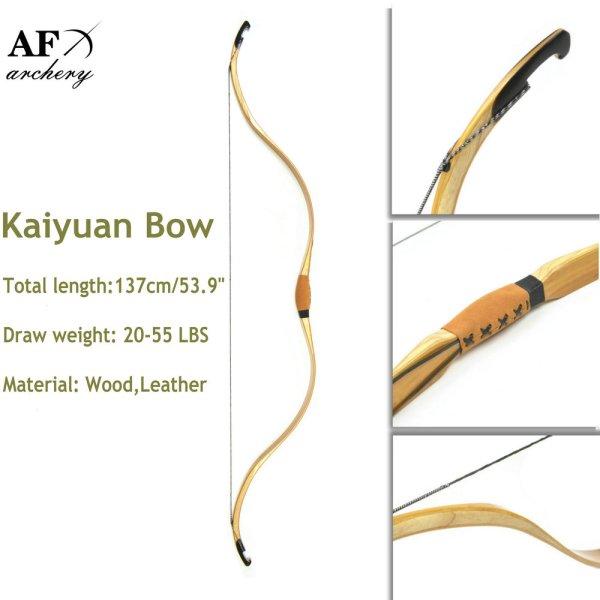 20-55lbs Draw 137cm Length Kaiyuan Bow And Arrow Sport