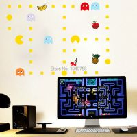 Pacman Cartoon Removable Wall Stickers for Kids Baby Rooms ...
