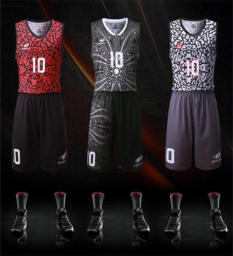 Sublimation Printing Colorful Pattern Basquete Jersey Custom