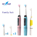 SEAGO Family suits Battery Tooth Brushes Electric Toothbrush Superior Plaque Removal Sonic Toothbrush 9 Replacement Brush