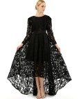 Plus Size Long Sleeve Evening Dress