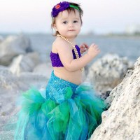 Handmade Girls Formal Dresses Kids Little Mermaid Dress