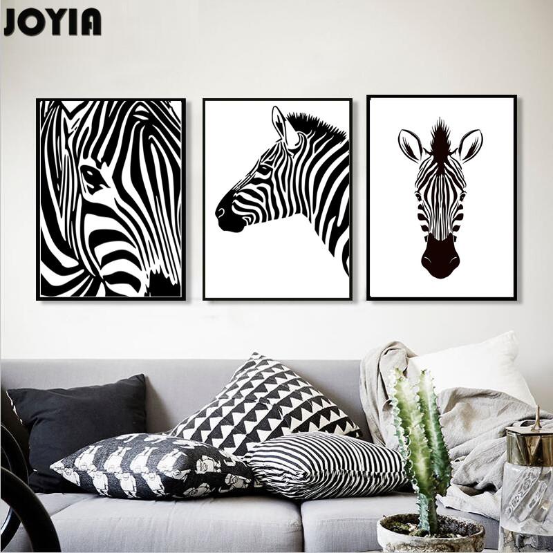 Black and White Zebra Painting Promotion
