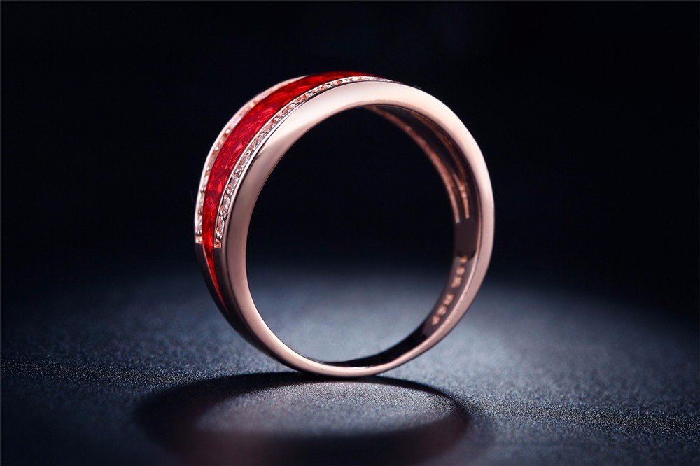 17bd2fb8d96b ... 11-Sterling Silver Jewelry Wholesale 18K Rose Gold Plated For Women  Engagement Wedding Ring CZ ...