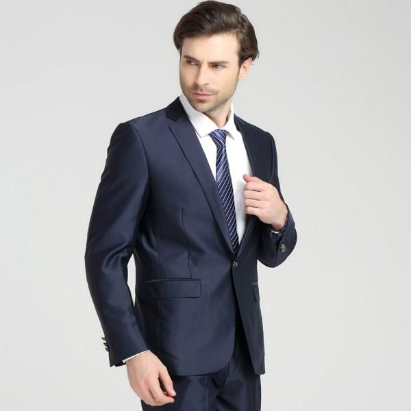 2016 Casual Slim Men Suit Set Brand Fashion Bridegroom Men' Business Blue Suits 3xl Jackets