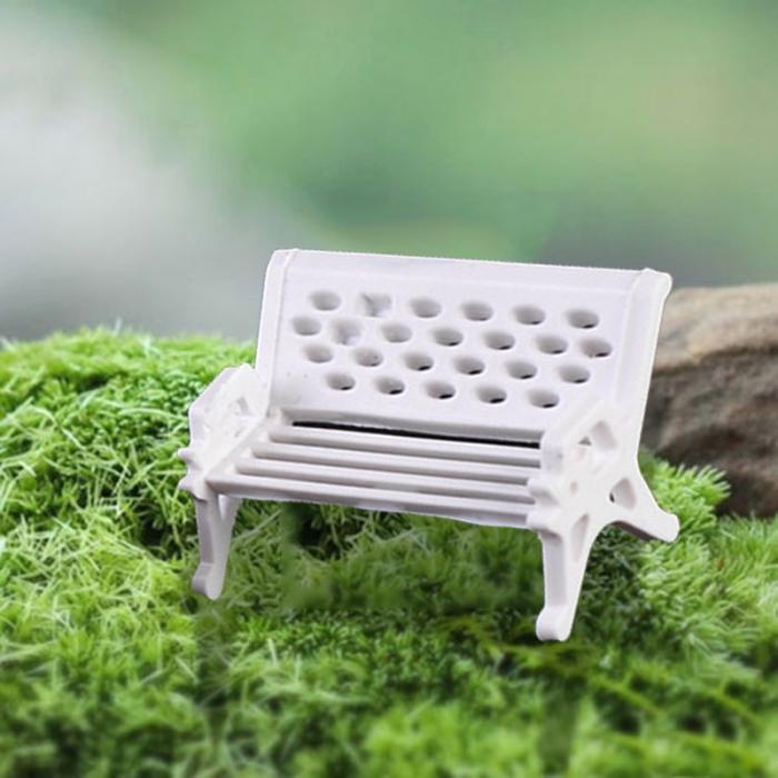 ⓪2 unids jardín decoración miniaturas Dollhouse Muebles mini silla ...