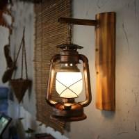 Vintage antique barn lantern wall lamp kerosene light ...
