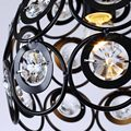 Crystal Ceiling Light Fixtures Modern Living Room Stair Aisle Kitchen Lamp Black Iron Decor Home Lighting
