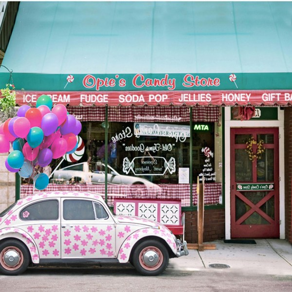 Pink Floral Beetle Car Candy Store Background 5x7ft