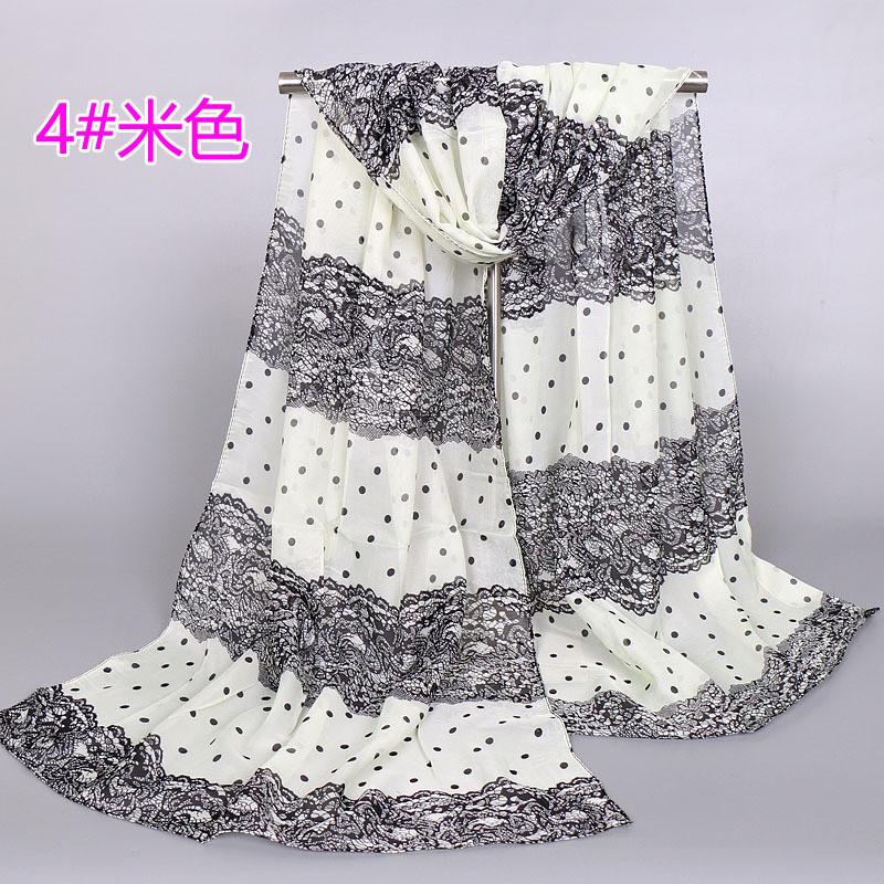 ᗖModa mujer gasa de la impresión del color del encanto bufanda ...