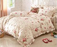 Home Textile, girls cotton Print bedding SET Beautiful