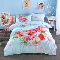 Bohemian Moroccan Style bedding set light blue flower ...