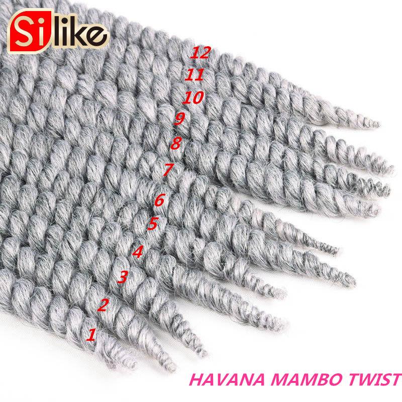 12 raíces Afro gordo La Habana Twist trenzas de Crochet 14 \