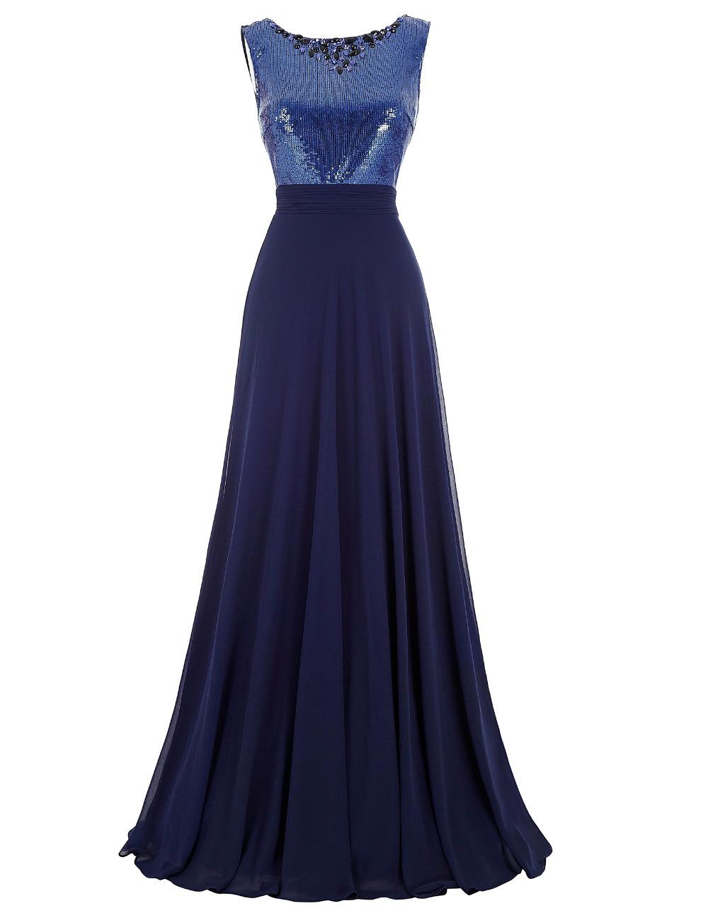 Western Junior Bridesmaid Dresses Long Navy Blue Wedding