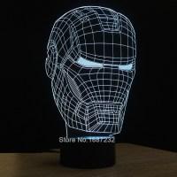 Iron Man 3D Table Lamp Micro USB Lamp Luminaria Kids Night ...