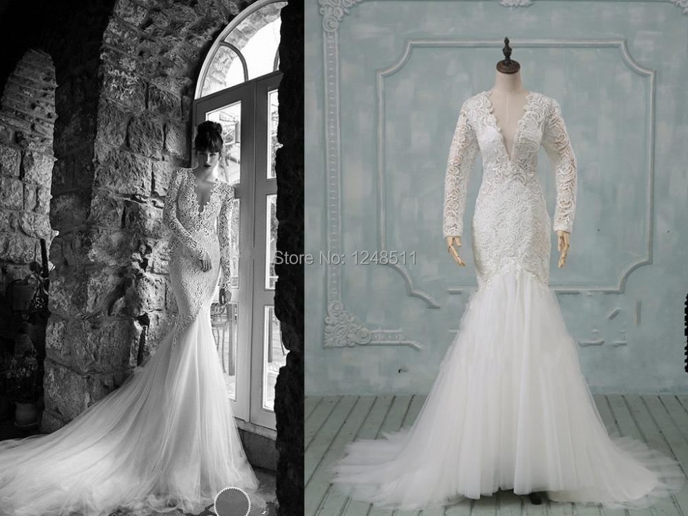 2015 Sexy Russian Berta Mermaid Wedding Dresses Long