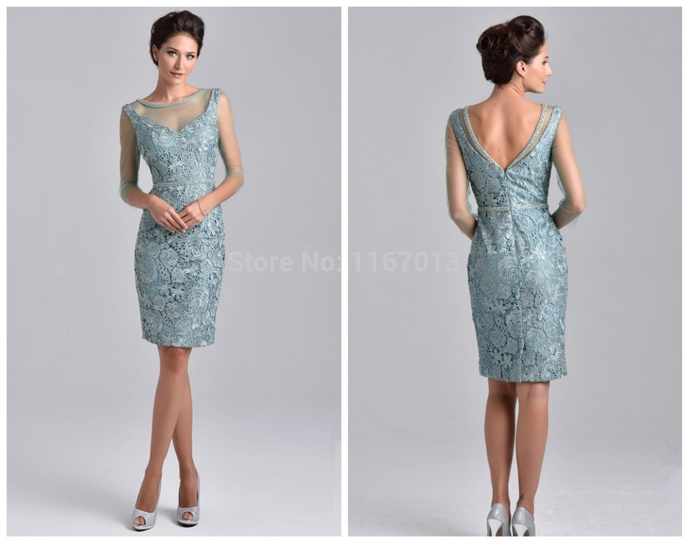 2015 Sexy Lace Knee Length Short Mother Of The Bride