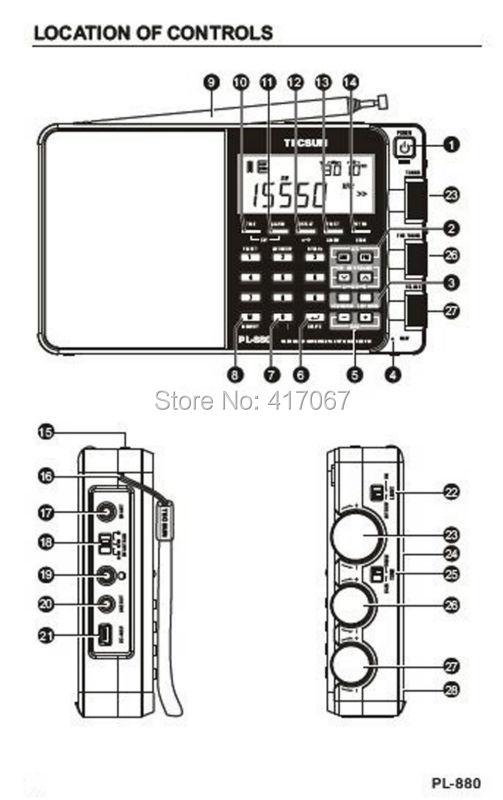 Wholesale New Arrival! Tecsun Pl880 Pll Multi Conversion