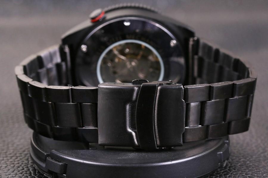 ce12a73d16f Vencedor Novo Número Projeto Do Esporte Montre Homme Bezel Black Watch Mens  Relógios Top Marca de Luxo Relógio Homens Relógio Esqueleto Automática