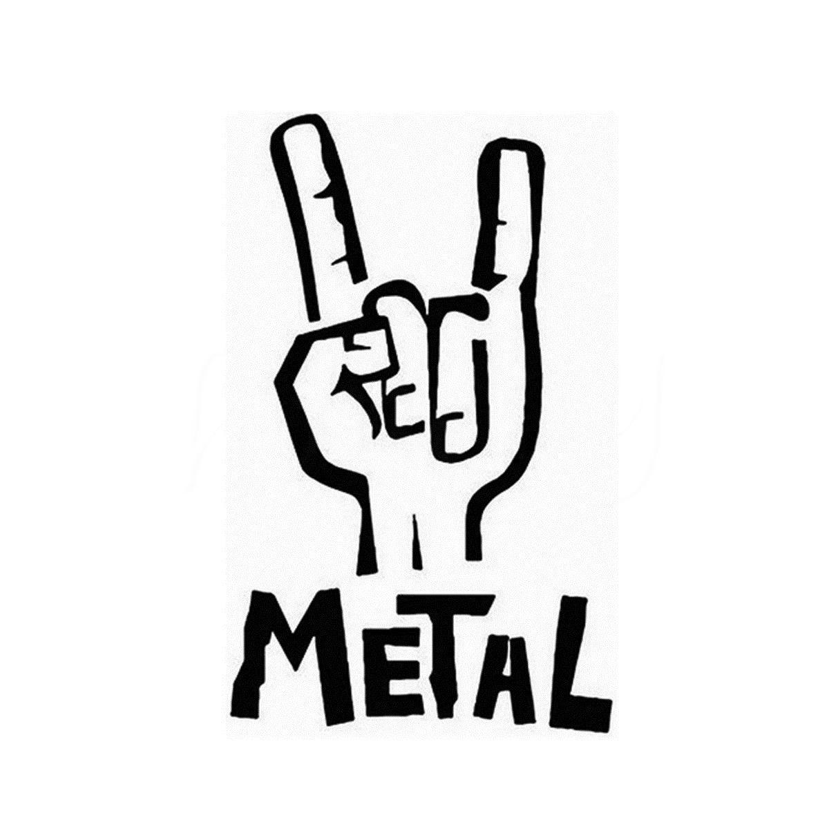 ⊱Heavy Metal etiqueta del vinilo bajo eléctrico Guitarras Rock ...