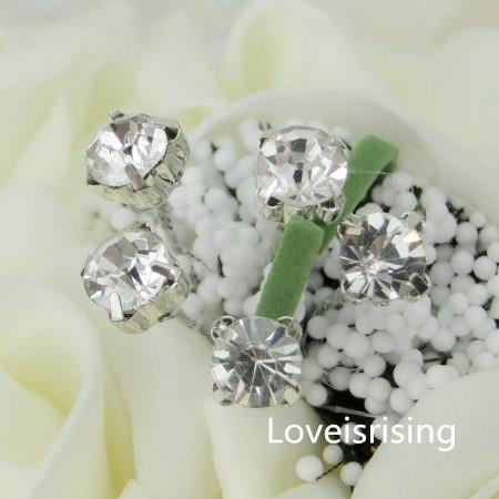 FREE SHIPPING36pcs 8mm AGrade Rhinestone Wedding Flowers