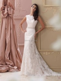 vintage lace wedding dress with cap sleeves