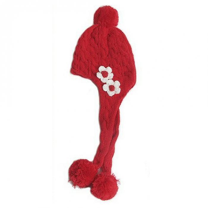 ᐃNiña bonita boina niños de punto sombrero de invierno de punto del ...