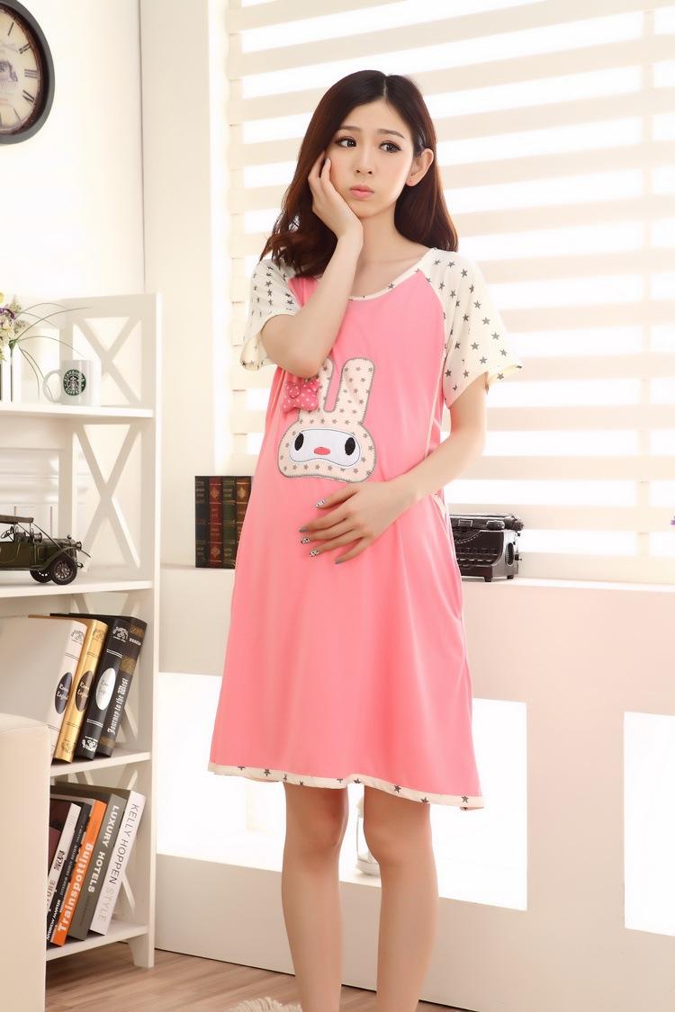 ̿̿̿(•̪ )Verano Delgado algodón Alimentación Pijamas Mujer Embarazada ...