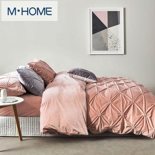 Velvet Bedding Comforter Set