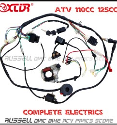 atv quad wiring harness 50cc 70cc 110cc 125cc ignition atv wiring diagrams for dummies chinese 4 wheeler wiring diagram [ 1000 x 1000 Pixel ]