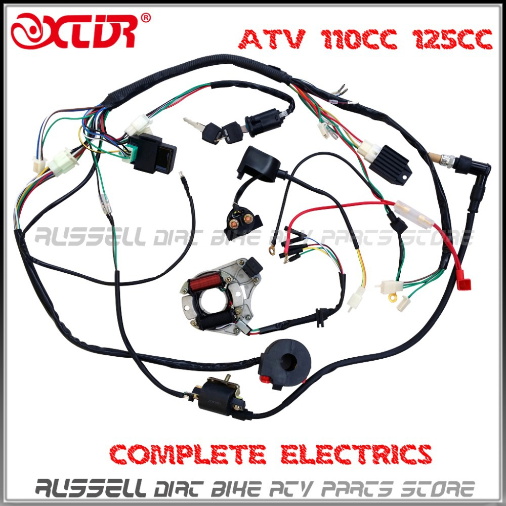 hight resolution of atv quad wiring harness 50cc 70cc 110cc 125cc ignition atv wiring diagrams for dummies chinese 4 wheeler wiring diagram