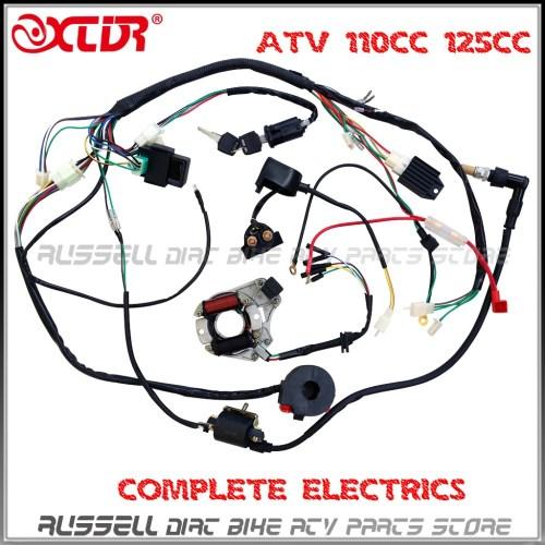 small resolution of atv quad wiring harness 50cc 70cc 110cc 125cc ignition baja 150 atv wiring diagram cdi ignition system schematic diagram