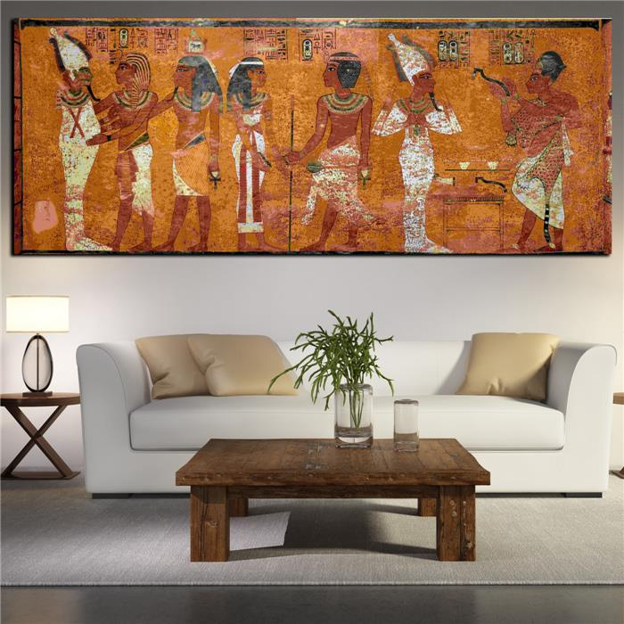 Egyptian Decor Canvas Painting Oil Painting Wall Pictures For Living Room Wall Decor Large