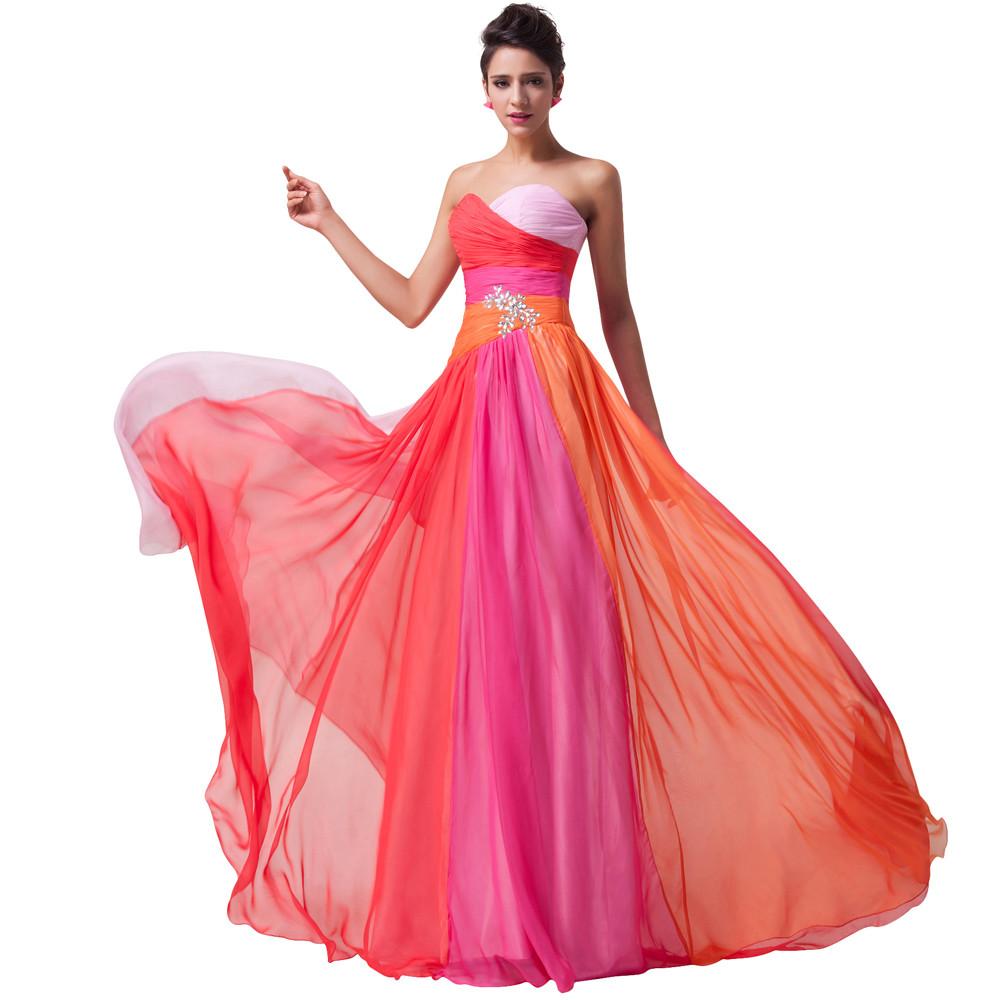 ღ Ƹ̵̡Ӝ̵̨̄Ʒ ღGracia Karin novia de gasa largo vestido de noche ...