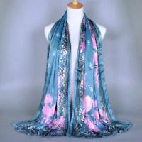 Wholesale Silk Women Shawls Summer Style Monshine Flower ...