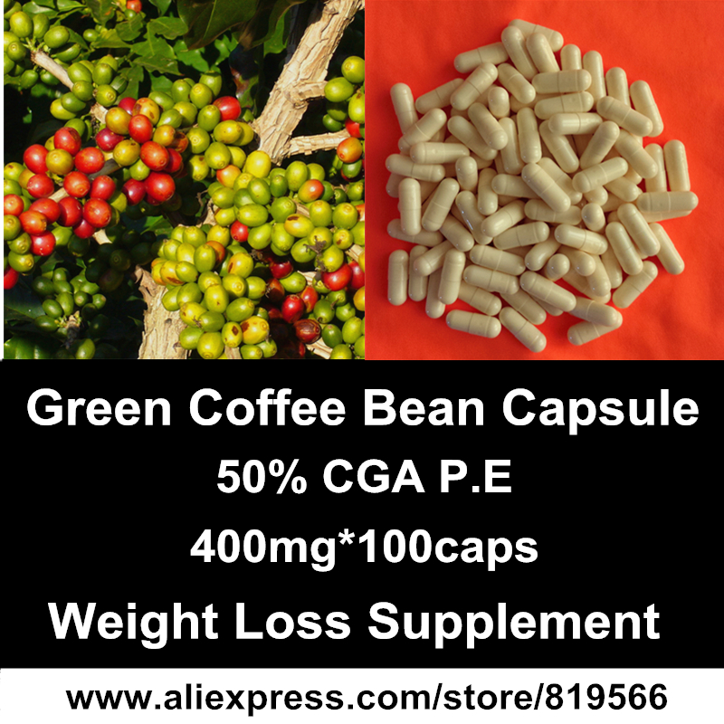 green coffee bean extract capsule natural weight loss diet fat burn products slimming herbal dietary supplements