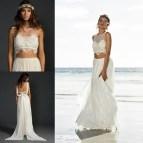 2 Piece Beach Wedding Dresses