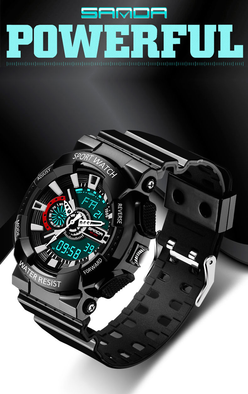 3033f3740d50 Relojes Hombre con impermeable de lujo para hombre de la marca LED Digital  movemwnts deportes reloj de goma impermeable fecha alarma colck reloj de  pulsera