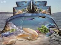 Ocean underwater world 3D fish Shell Coral bedding set 3_d ...