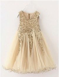 Flower Girl Dresses + Gold - Flower Girl Dresses