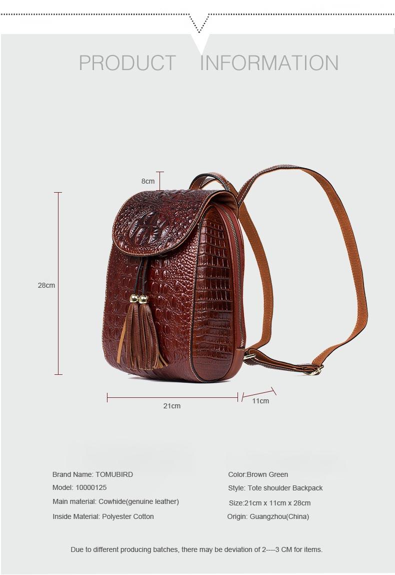 2017 New women leather bag designer brand china wind quality leather  alligator grain backpack quality women leather backpack. FASHION ONYOURSIDE cf075b809c